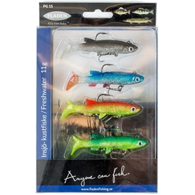Drag Fladen Fishing Softlure Bleak, 11g 4-pack, 3003198