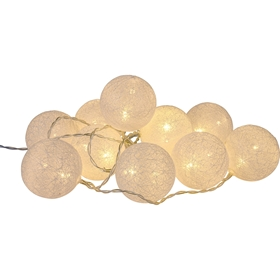 Ljusslinga LED Bright Cotton, vit, 5000560