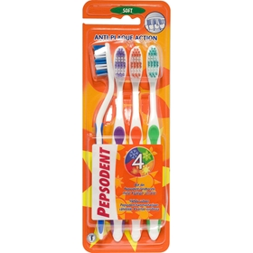 Tandborste Pepsodent Anti-Plaque Action Soft, 4-pack, 3607844