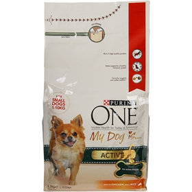 Torrfoder Purina One My Dog Is Active, 1,5 kg, 4100079