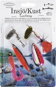 Dragsortiment Fladen Fishing Insjö/Kust, lax/öring 3-15g 5-pack, 1000722