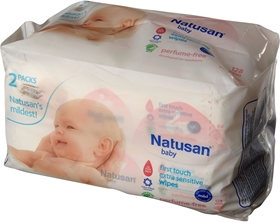 Tvättservetter Natusan, First Touch Extra Sensitive Wipes 128-pack, 3603176