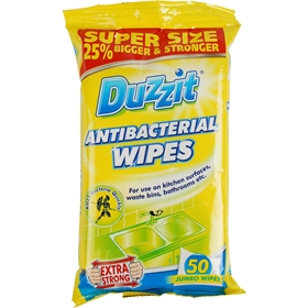Rengöringsservetter Duzzit Antibacterial Wipes, 50-pack, 3605282