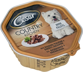 Våtfoder Cesar Country Kitchen Kalkon & Oxkött, 150 g, 4004586