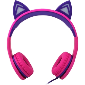 Barnhörlurar Connect, on-ear, rosa, 5001195