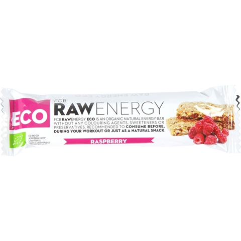 Energibar FCB Raw Energy ECO Raspberry, 30 g, 3606641