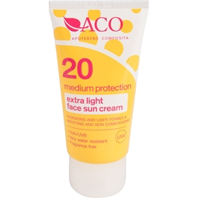 Solskyddscreme ACO Face Extralight, spf 20 50 ml, 3607595