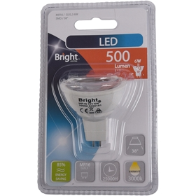 LED-lampa GU5.3 Bright, 6W spot 38° 500 lm, 5000191