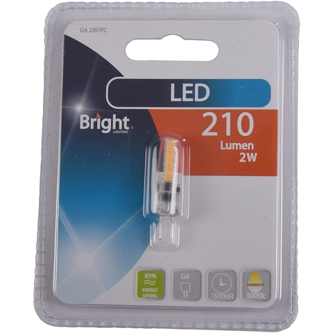 LED-lampa G4 Bright, 2W 210 lm, 5000207