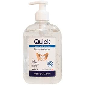 Handdesinfektion Quick Gel, alkoholhalt 75% 500 ml, 3609312