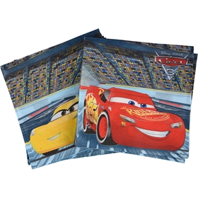 Servetter Disney Pixar Cars 3, 33x33cm 20-pack, 3111077