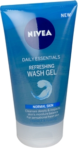 Rengöringsgel Nivea Daily Essentials Refreshing Wash Gel Normal Skin, 150 ml, 3604984
