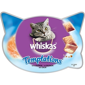 Kattgodis Whiskas Temptations Salmon, 60 g, 4002831