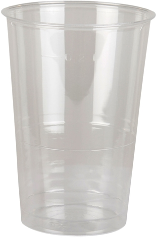Engångsglas, 25 cl i plast, transparent 50-pack, 3100991