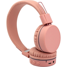 Trådlösa hörlurar Connect Q9, bluetooth on-ear, rosa, 5001188
