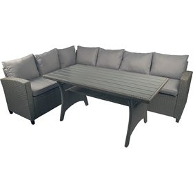 Loungeset Napoli, konstrotting/nonwood, grå, 5002057