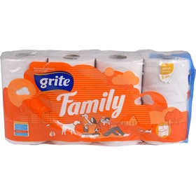 Toalettpapper Grite Family, 8-pack (8x95 g), 3604295