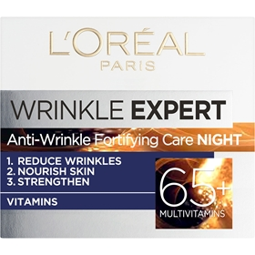 Ansiktscreme L'Oréal Paris Wrinkle Expert Antiwrinkle Fortifying Care Night +65, 50 ml, 3609437
