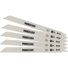 Tigersågsblad ProBuilder, 225mm metall 5-pack, 3804709