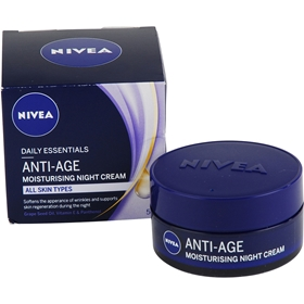 Nattcreme Nivea Daily Essentials Anti-Age Moisturizing Night Cream, 50 ml, 3607783