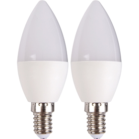 LED-lampa E14, 3W kron 250lm 2-pack, 5000226