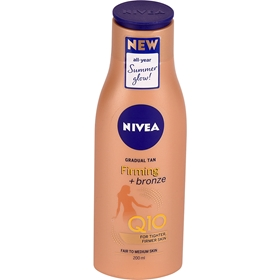 Brun utan sol Nivea Gradual Tan Firming Bronze Fair To Medium, 200 ml, 3609234