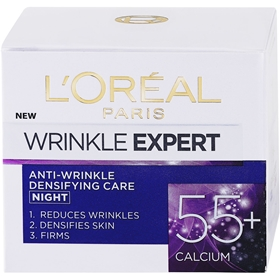 Nattcreme L'Oréal Paris Wrinkle Expert 55+ Night Cream, 50 ml, 3607987