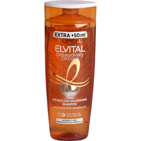Schampo L'Oréal Paris Elvital Extraordinary Oil Coconut, 300 ml, 3609369
