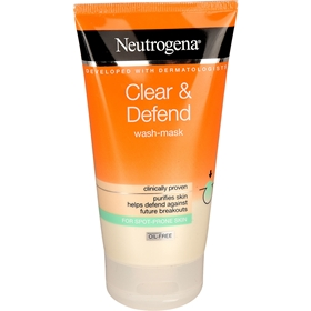 Ansiktstvätt Neutrogena Clear & Defend Wash-Mask, 150 ml, 3608951