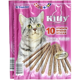 Kattgodis Sjöbogårdens Kitty Sticks Lamm & Kalkon, 10-pack, 2002515