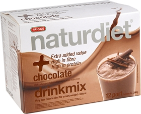 Kostersättning Naturdiet, Drinkmix Chocolate 12 portioner 396 g 12-pack, 4002500