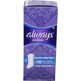 Trosskydd Always Dailies Long Plus, 22-pack, 3607605