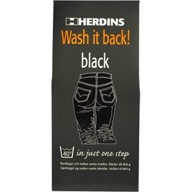 Textilfärg Herdins Wash It Back Black, 430 ml, 3603443