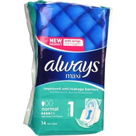 Bindor Always Maxi Normal, 14-pack, 3608665