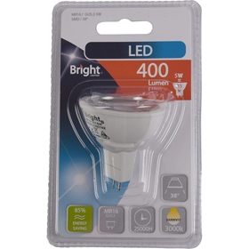 LED-lampa GU5.3 Bright, 5W spot 38° 400 lm, 5000192