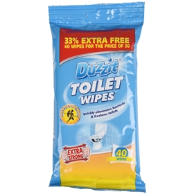 Rengöringsservetter Duzzit Toilet Cleaning Wipes, 40-pack, 3605455