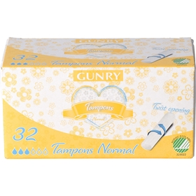 Tamponger Gunry Normal, 32-pack, 1600066