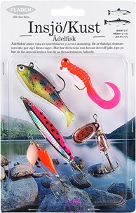Dragsortiment Fladen Fishing Insjö/Kust, ädelfisk 5-12g 5-pack, 1000742