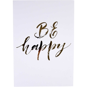 Poster Be Happy, 18x24cm, 3110952