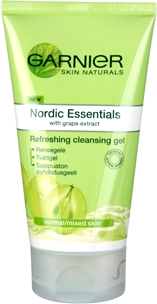 Rengöringsgel Garnier Nordic Essentials Refreshing Cleansing Gel Normal/Mixed Skin, 150 ml, 3603542
