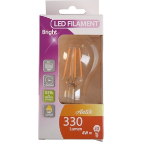LED-lampa E27 Bright Antik, 4W filament klot 330 lm, 5000210