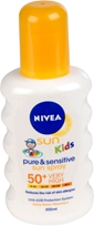 Solskyddsspray Nivea, Sun Kids Pure & Sensitive Sun Spray Spf 50+ Very High 200 ml, 1601246
