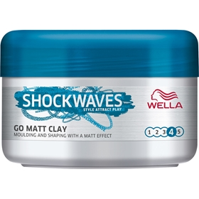 Hårvax Wella Shockwaves Messy Go Matt Clay, 75 ml, 3607561