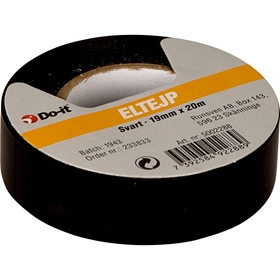 Eltejp Do-it, 19 mm x 20 m, svart, 5002288