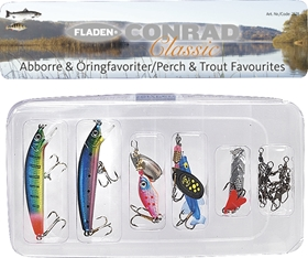 Dragsortiment Fladen Fishing Conrad Classic Abborre & Öringfavoriter, 5-pack, 1001025