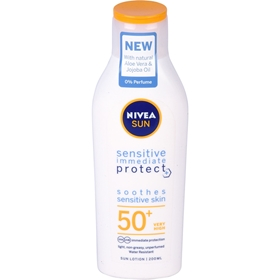 Solskyddslotion Nivea Sensitive spf 50, 200 ml, 3609661
