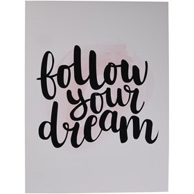Poster Follow Your Dream, 18x24cm, 3110951