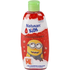 Schampo & balsam Natusan Kids Minions Strawberry, 200 ml, 3606468