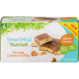 Måltidsersättningsbar Nutrilett Smooth Caramel Toffee Bar, 4-pack, 3606703