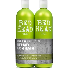 Schampo & balsam Tigi Bed Head Rehab For Hair Re-Energize Tweens, 2-pack (2x750 ml), 3606024
